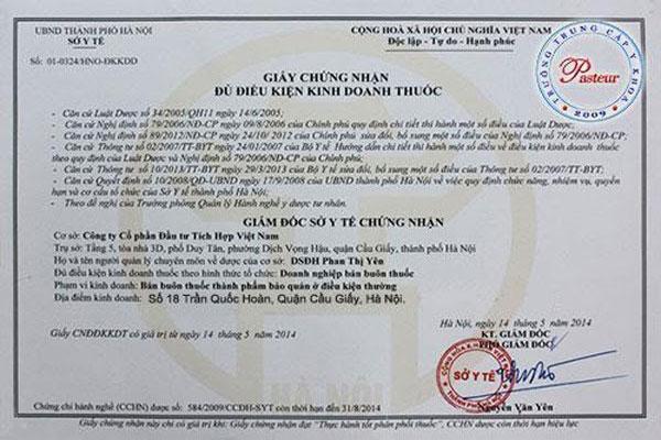 Thuốc GHB đã được bộ y tế cấp phép lưu hành