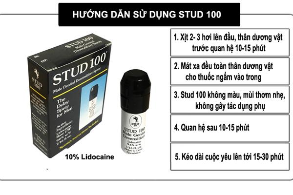 Hướng dẫn sử dụng thuốc xịt Stud 100